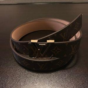 Other - Brown Emblem belt gold buckle 120 CM